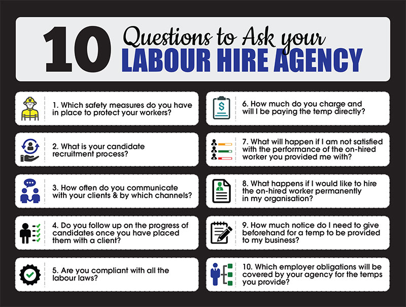 10 questions to ask your labour hire agency